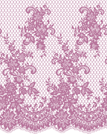 repetition: Seamless Vector Pink Lace Pattern
