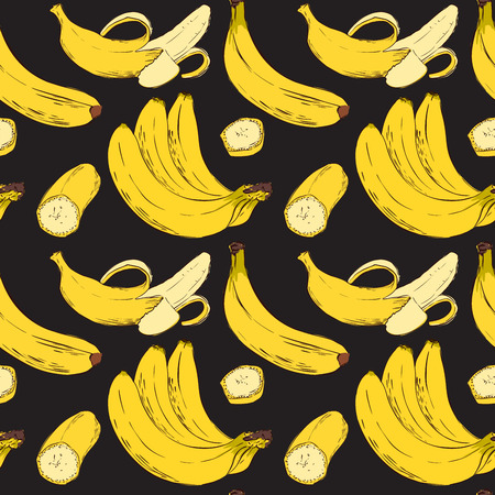 Seamless Vector Banana Pattern Illustration