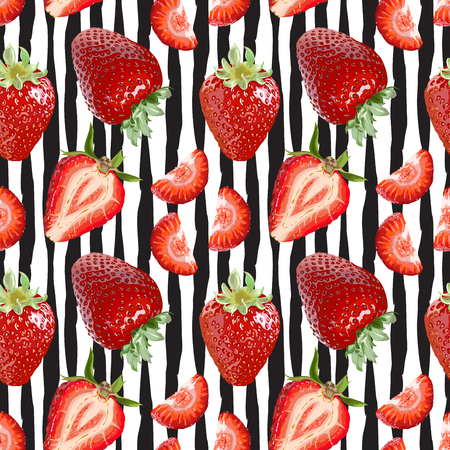 Seamless Vector Strawberry Pattern Royalty Free Cliparts Vectors New Strawberry Pattern