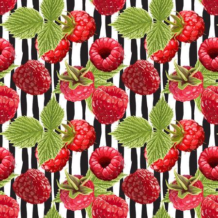 Seamless Vector Raspberry Pattern