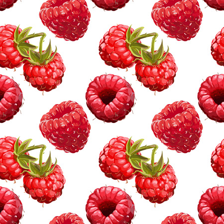 Seamless Vector Raspberry Pattern