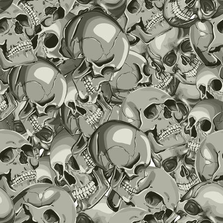 Seamless Vector Skull Pattern