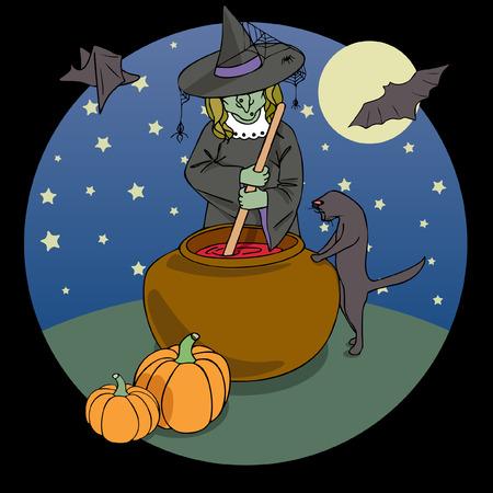 Vector Halloween Illustration Illustration