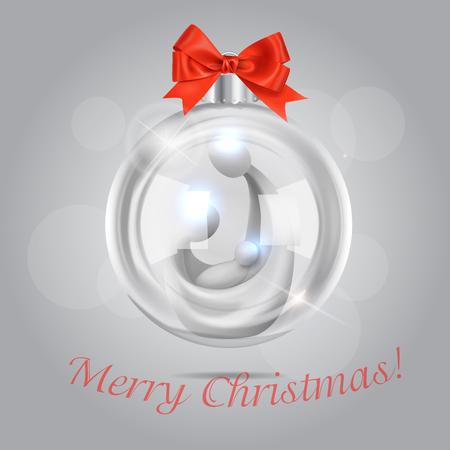 Vector Christmas Bubble With Saint Family