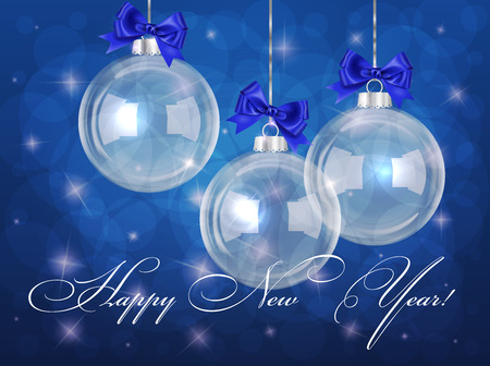 Vector Christmas Card With Bubbles