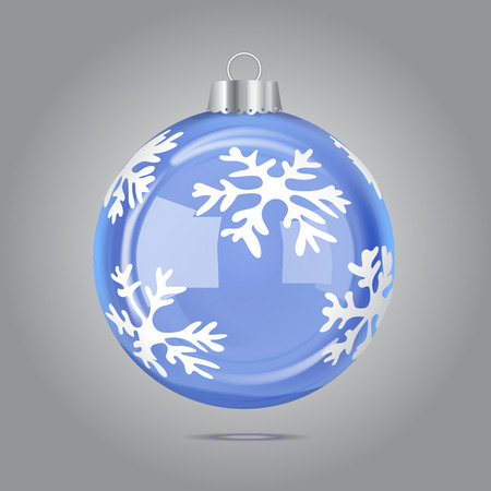christmas tree illustration: Vector Blue Christmas Bubble