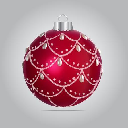 christmas tree illustration: Vector Christmas Bubble Illustration
