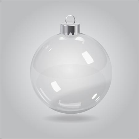 벡터 크리스마스 투명 유리 버블