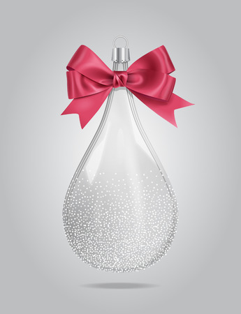 Vector Christmas Glass Drop Decoration