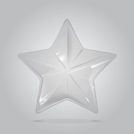 Vector Christmas Star Glass Decoration