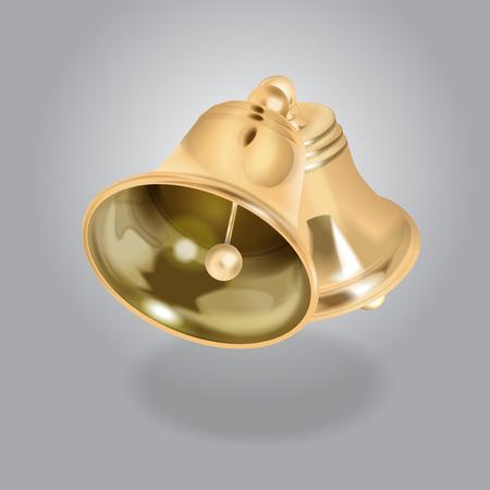 Vector Golden Bell illustration