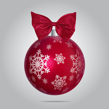 Vector Red Christmas Bubble Illustration