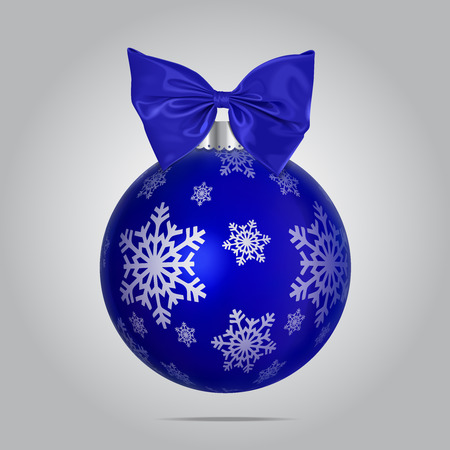 Vector Blue Christmas Bubble Illustration