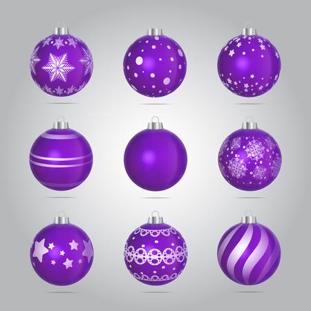 Vector Christmas Bubbles Illustration Set Illustration