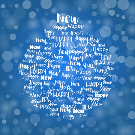 Vector Words Christmas Bubble Illustration Illustration