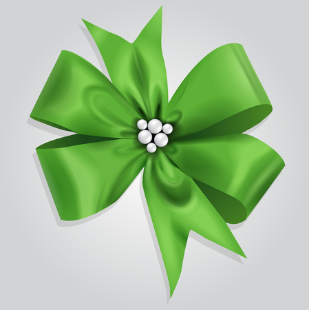 article icon: Vector Green Bow Illustration Illustration