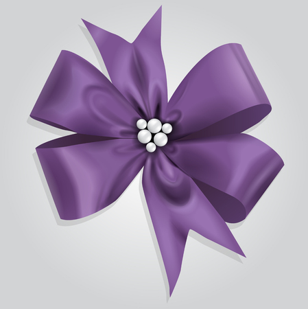 Vector Violet Bow Illustration Illustration