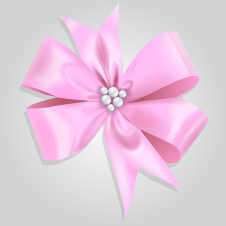 Vector Pink Bow Illustration