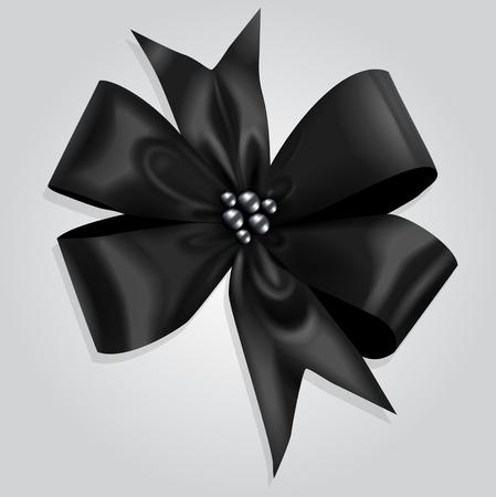 Vector Black Bow Illustration