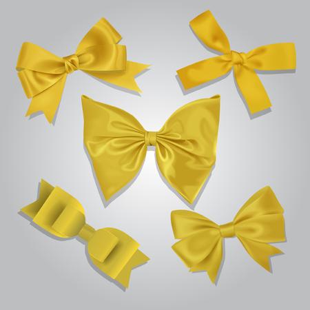 Vector Yellow Bows Collection