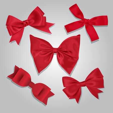 september calendar: Vector Red Bows Collection