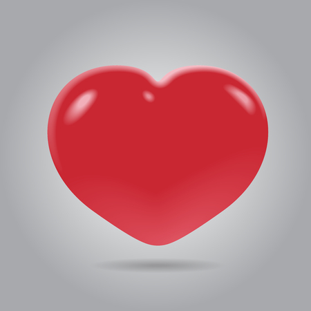 february calendar: Vector Red Heart Illustration Illustration