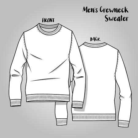 Vector Male Sweater Cheme Illustration
