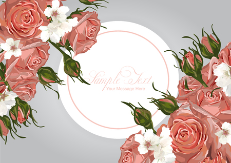Vector Roses Frame Template