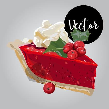 Vector Christmas Pie-illustratie
