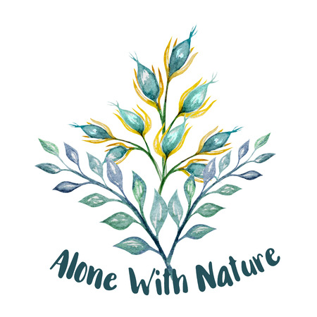 Watercolor Twigs Illustration