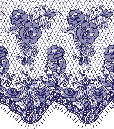 シームレスなベクトル ブルー レース パターン  イラスト・ベクター素材