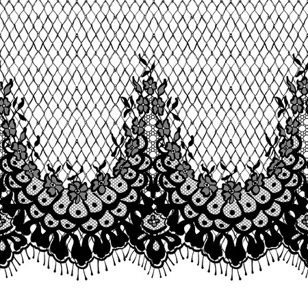 Seamless Vector Black Lace Pattern.