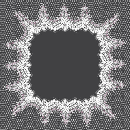 Vector White Lace Frame Template. Ilustracja