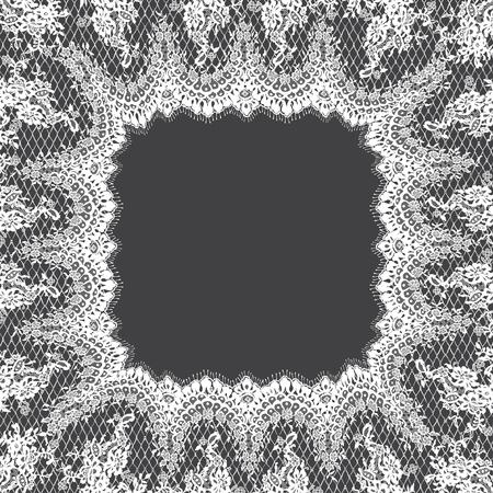 벡터 흰색 레이스 프레임 템플릿입니다.