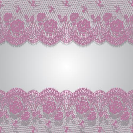 원활한 벡터 핑크 레이스 패턴