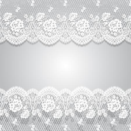 Patrón de encaje blanco de Vector transparente Foto de archivo - 90374179