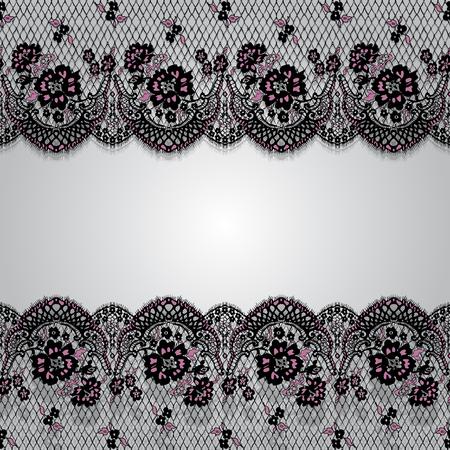 원활한 벡터 검정과 핑크 레이스 패턴입니다.