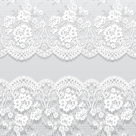 Seamless Vector White Lace Pattern.