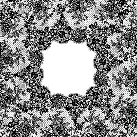 Vector Black Lace Frame Illusztráció