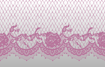 Seamless Vector Pink Lace Pattern.