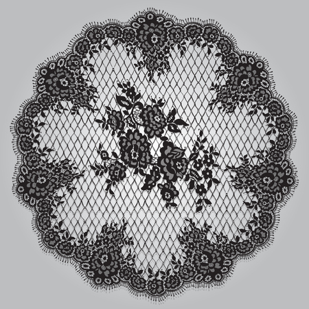 Vector Black Lace Template