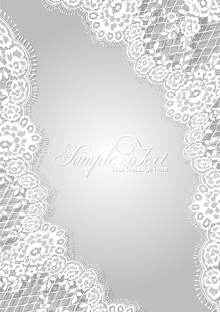 Vector White Lace Template Ilustracja