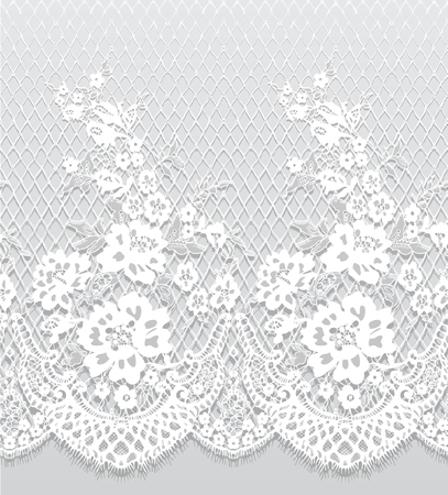 Seamless Vector White Lace Pattern Ilustracja