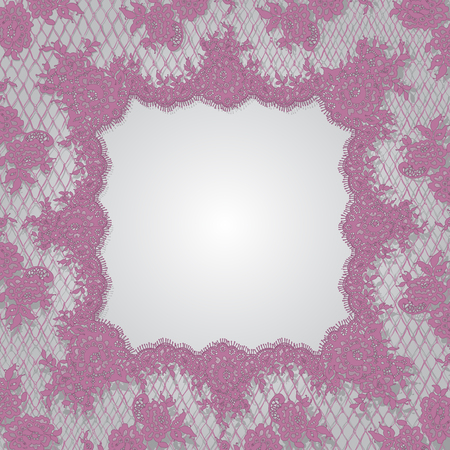 Vector Pink Lace Frame Template