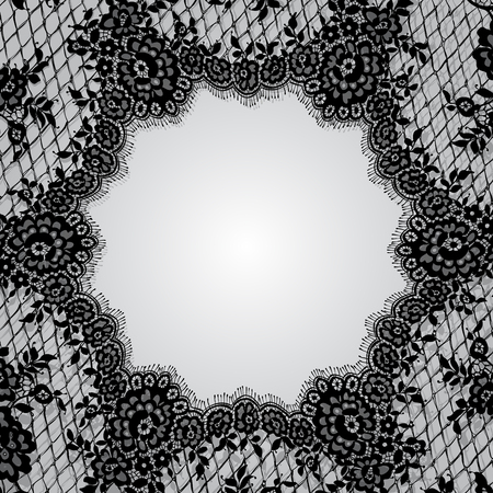 Vector Doily Black Lace Frame Template