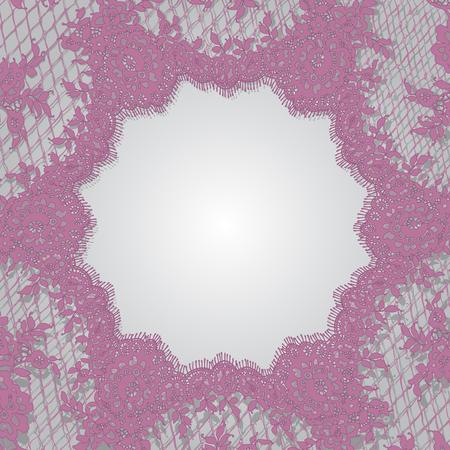 벡터 핑크 레이스 프레임 템플릿 스톡 콘텐츠