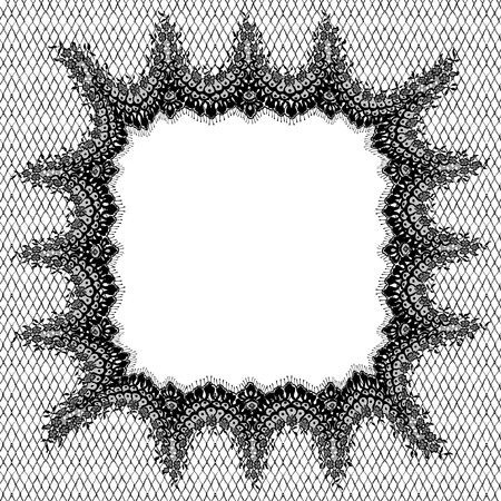 Vector Black Lace Frame Template