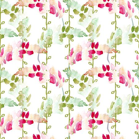Seamless Watercolor Hand Drawn Floral Pattern Zdjęcie Seryjne - 89943711