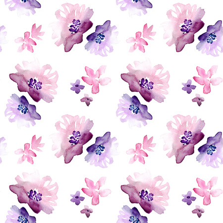 Seamless Watercolor Hand Drawn Floral Pattern Zdjęcie Seryjne - 89861525