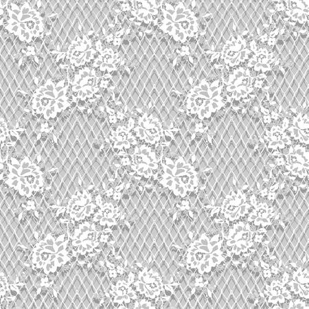 シームレスなベクトル詳細な白いレース パターン  イラスト・ベクター素材